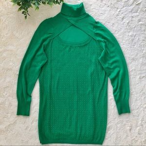 Ashley Stewart green beaded long turtleneck 14/16